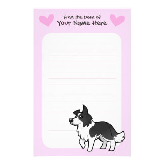 Border Collie Love Stationery