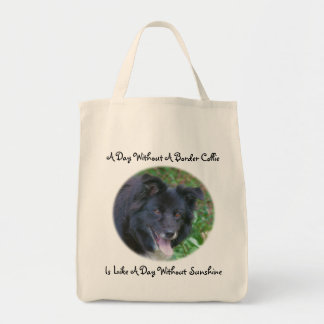 Border Collie Love Sunshine Cute Dog Tote Bag