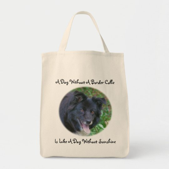 Border Collie Love Sunshine Cute Dog Tote Bag
