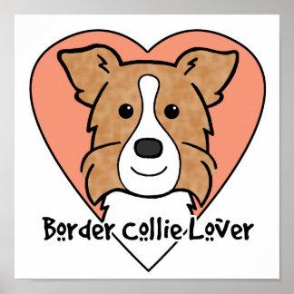 Border Collie Lover Poster