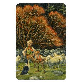 Border collie Magnet~Shepherd y ovejas Imanes