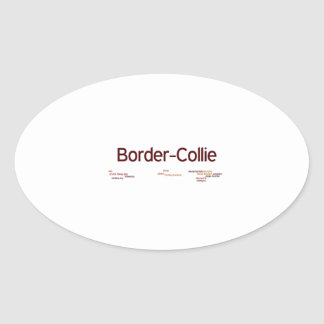 border collie mashup png oval stickers