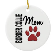 Border Collie Mom 2 Christmas Ornament