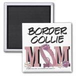 Border Collie MOM 2 Inch Square Magnet