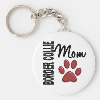 Border Collie Mom 2 Keychain