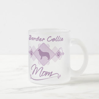 Border Collie Mom Frosted Glass Coffee Mug