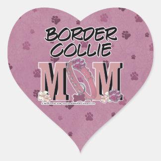 Border Collie MOM Heart Sticker