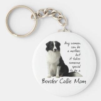 Border Collie Mom Keychain