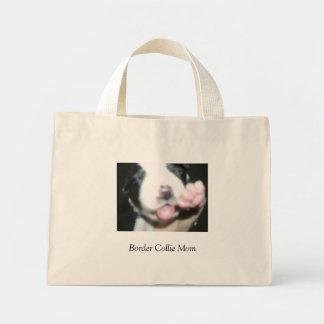 Border Collie Mom Mini Tote Bag