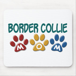 BORDER COLLIE MOM Paw Print 1 Mouse Mat