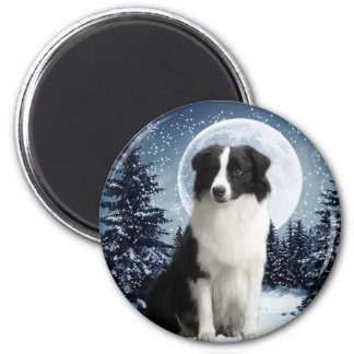 Border Collie & Moon Magnet