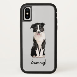 Case-Mate Barely There iPhone X Case with Collie Phone Cases design