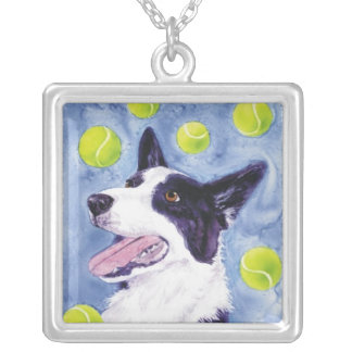 """Border Collie Necklace - """"Magpie's Gold"""""""