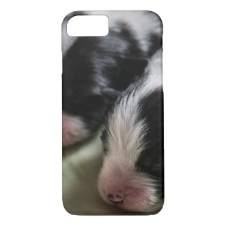 Border Collie Newborn Puppies iPhone 8/7 Case