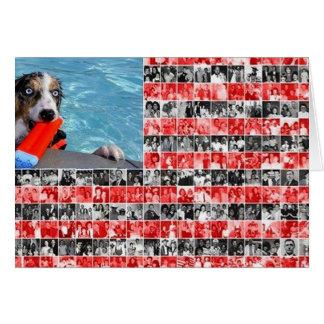 Border Collie Notecard~Memorial Day Card