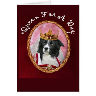 Border Collie Notecard~Mother's Day~Queen Card