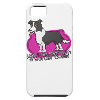 Border Collie on pink! iPhone SE/5/5s Case