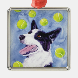 "Border Collie Ornament - ""Magpie's Gold"""