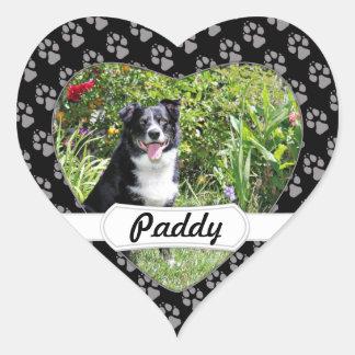 Border Collie - Paddy - Pasten Heart Sticker