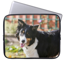 Neoprene Laptop Sleeve 15' with Collie Phone Cases design