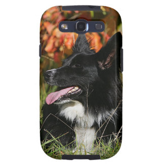 Border Collie Panting Laying Down Samsung Galaxy S3 Case