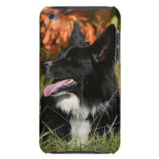 Border Collie Panting Laying Down iPod Touch Case
