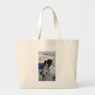 Border Collie photo on products Large Tote Bag