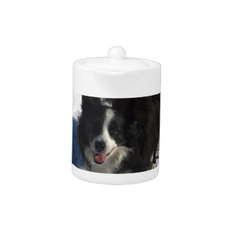 Border Collie photo on products Teapot