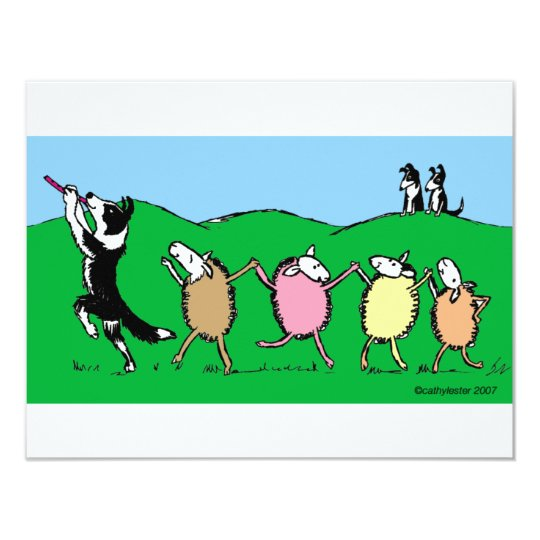 Border Collie Pied Piper Card