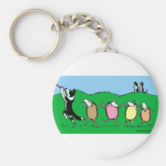 Border Collie Pied Piper Keychain