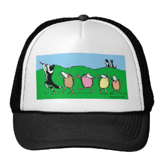 Border Collie Pied Piper Trucker Hat