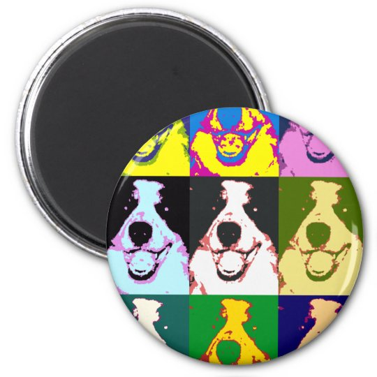 Border Collie Pop Art Magnet