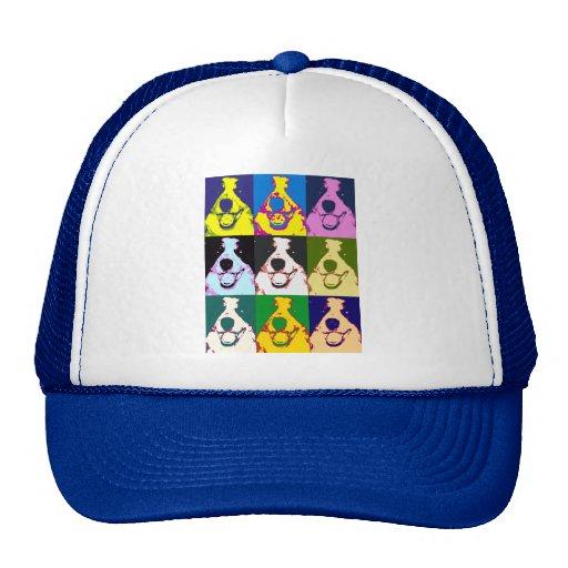 Border Collie Pop Art Trucker Hat
