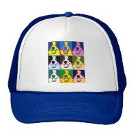Border Collie Pop Art Trucker Hats