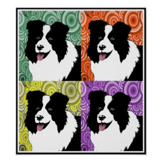 Border Collie  Poster Original Art by Lorri