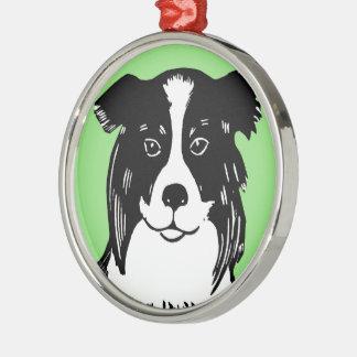Border Collie Premium Round Ornament