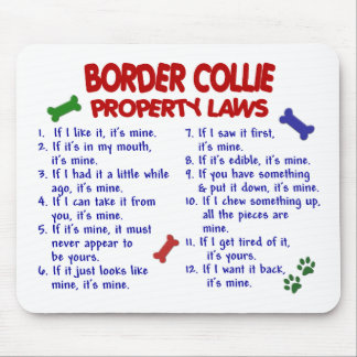 BORDER COLLIE Property Laws 2 Mouse Mats