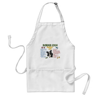 Border Collie Property Laws 4 Adult Apron