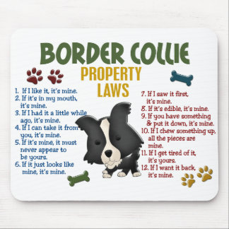 Border Collie Property Laws 4 Mouse Pad