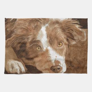 Border Collie Pup Towel