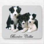 Border Collie Puppies Mouse Pad