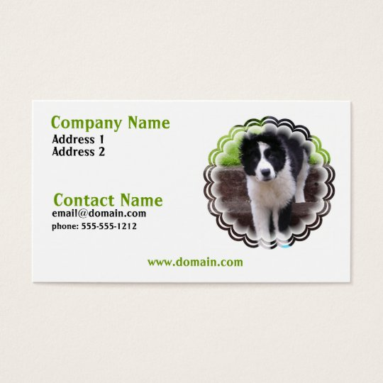 Border Collie Puppy Business Card