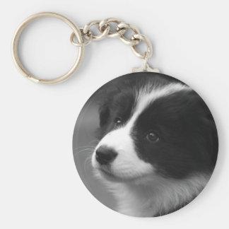 Border Collie Puppy Keychain