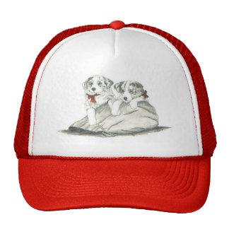 Border Collie Pups Hat