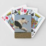 Border collie que corre 2 baraja de cartas