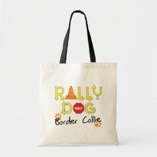 Border Collie Rally Dog Tote Bag