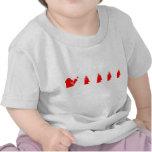 Border collie rojo y blanco de Flyball Camisetas
