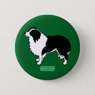 Border Collie Round Button