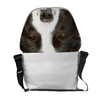 Border Collie Saddlebag Courier Bag