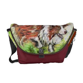 Border Collie Satchel Purse Messenger Bags